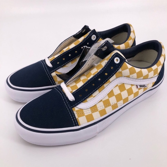 VANS Mens Old Skool Pro Checkerboard Blue NWT